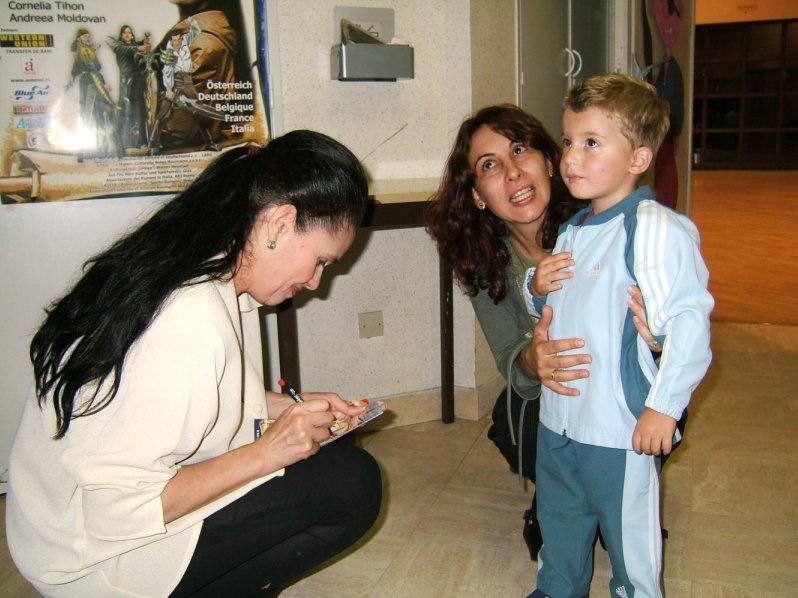 Felicia Filip et les enfants