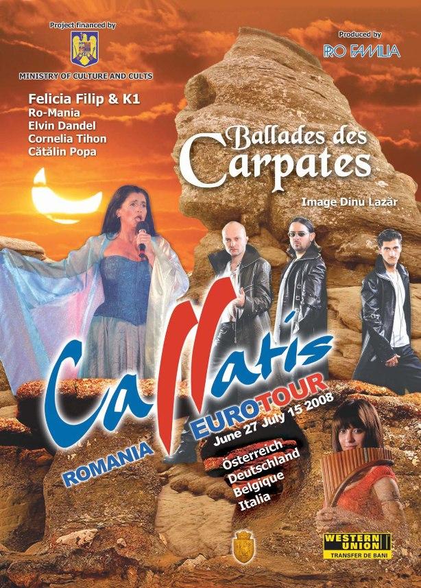 Affiche Ballades des Carpates 2008